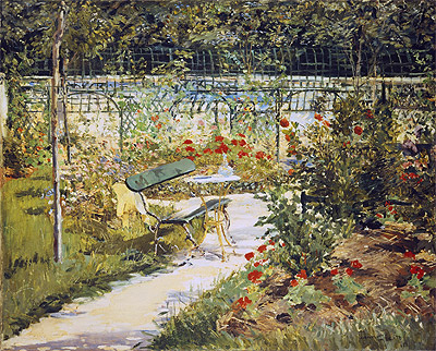 The Bench, The Garden at Versailles, 1881 | Manet | Painting Reproduction
