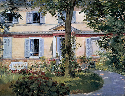 The House at Rueil, 1882 | Manet | Painting Reproduction