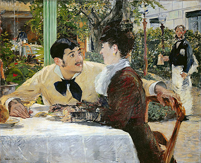 The Garden of Pere Lathuille, 1879 | Manet | Painting Reproduction