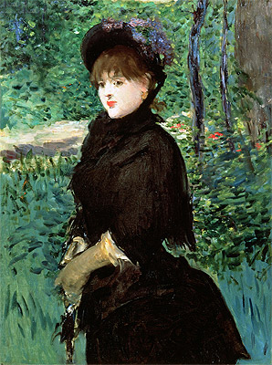 The Promenade, c.1880 | Manet | Painting Reproduction