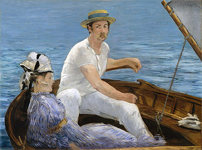 Boating, 1874 | Manet | Painting Reproduction