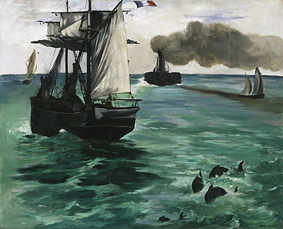 Marine View, c.1864 | Manet | Painting Reproduction