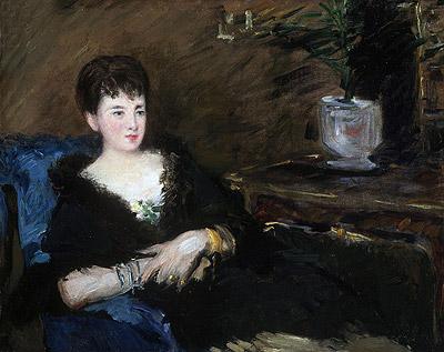 Portrait of Isabelle Lemonnier, c.1877 | Manet | Painting Reproduction