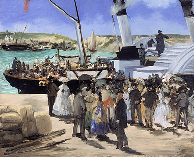 The Folkestone Boat, Boulogne, 1869 | Manet | Painting Reproduction