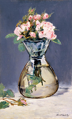 Moss Roses in a Vase, 1882 | Manet | Painting Reproduction