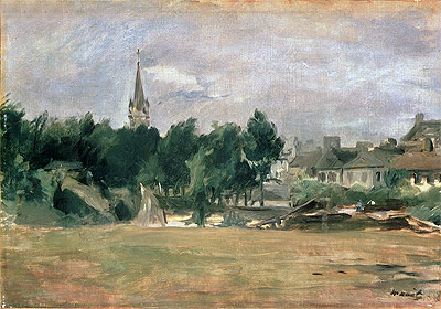 Landscape with a Village Church, undated | Manet | Painting Reproduction