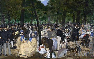 Music in the Tuileries Gardens, 1862 | Manet | Painting Reproduction