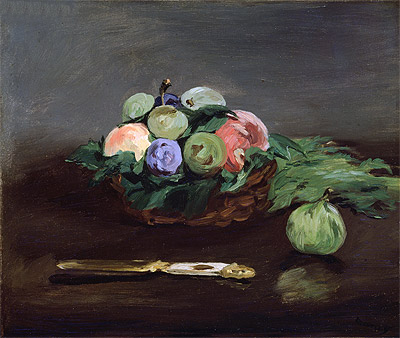 Basket of Fruit, c.1864 | Manet | Painting Reproduction