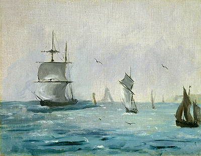 Fishing Boat Arriving with the Wind Behind, 1864 | Manet | Painting Reproduction