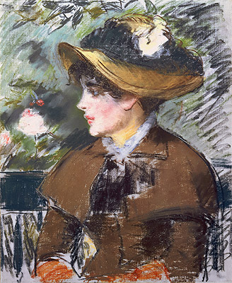 On the Bench, 1879 | Manet | Painting Reproduction