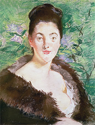 Woman in a Fur Coat, undated | Manet | Painting Reproduction