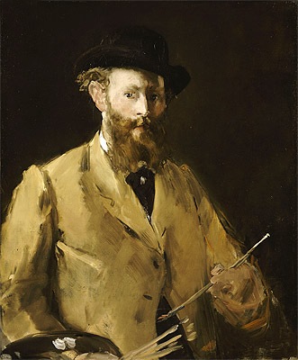 Self Portrait with a Palette, c.1878/79 | Manet | Painting Reproduction