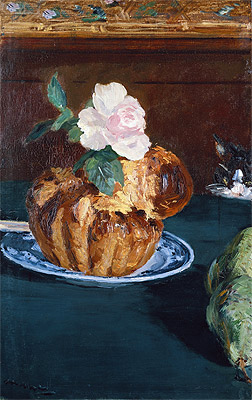 Still Life with Brioche, c.1880 | Manet | Painting Reproduction