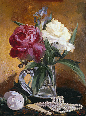 Peonies, 1862   Manet   Painting Reproduction