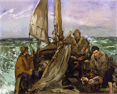 The Toilers of the Sea, 1873 | Manet | Painting Reproduction