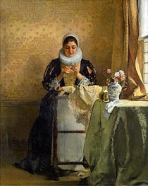 Eduard Charlemont | The Lace Maker, undated | Giclée Canvas Print