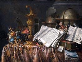 Edwaert Collier | Vanitas Still Life, 1662 | Giclée Canvas Print