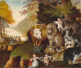 Peaceable Kingdom, c.1834 by Edward Hicks | Giclée Canvas Print