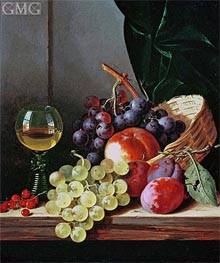 Edward Ladell | Grapes and Plums | Giclée Canvas Print