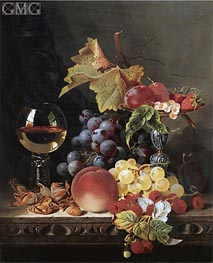 Edward Ladell | Still Life with a Wine Goblet and Silver Tazza, undated | Giclée Canvas Print