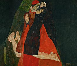 Schiele | Cardinal and Nun (Caress) | Giclée Canvas Print