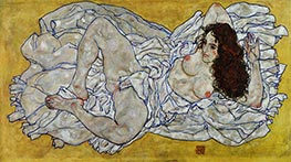 Reclining Woman, 1917 by Schiele | Giclée Canvas Print
