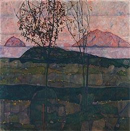 Schiele | Setting Sun | Giclée Canvas Print