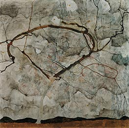 Autumn Tree in Stirred Air (Winter Tree), 1912 by Schiele | Giclée Canvas Print