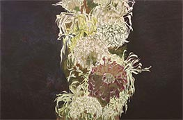 Chrysanthemums, 1910 by Schiele | Giclée Canvas Print
