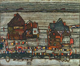 Schiele | Houses with Laundry (Vorstadt - Suburb II) | Giclée Canvas Print