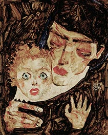 Schiele | Mother and Child II | Giclée Canvas Print