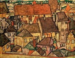 Schiele | Yellow Town | Giclée Canvas Print