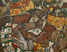 Schiele | Krumau - Crescent of Houses (The Small City V) | Giclée Canvas Print
