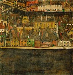 Schiele | Small Town (III) | Giclée Canvas Print