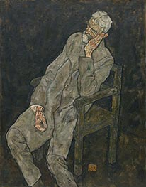 Portrait of Johann Harms, 1916 by Schiele | Giclée Canvas Print