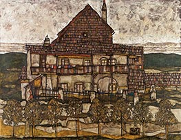 Schiele | House with Shingle Roof (Old House II) | Giclée Canvas Print