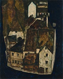Schiele | Dead City III (City on the Blue River III) | Giclée Canvas Print