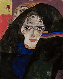 Schiele | Mourning Woman, 1912 | Giclée Canvas Print