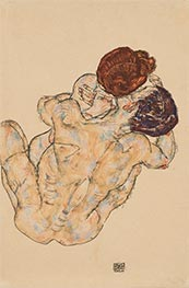 Husband and Wife (Hug), 1917 by Schiele | Giclée Paper Print