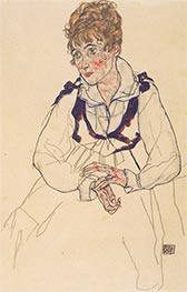 Portrait of Edith Schiele, 1917 by Schiele | Giclée Paper Print