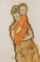 Schiele | Mother and Child, 1914 | Giclée Paper Print