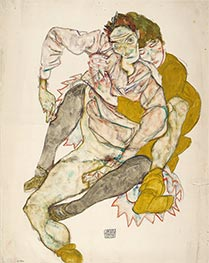 Seated Couple, 1915 by Schiele | Giclée Paper Print