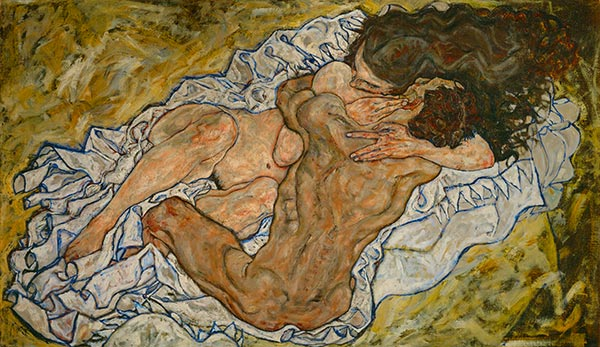 The Embrace, 1917 | Schiele | Painting Reproduction