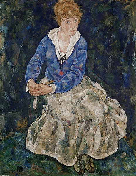 Portrait of the Artist's Wife, Edith Schiele, 1918 | Schiele | Painting Reproduction