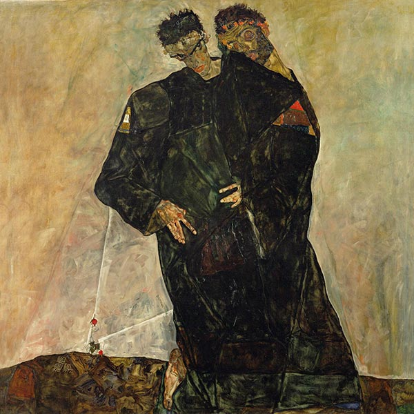 The Hermits, 1912 | Schiele | Painting Reproduction