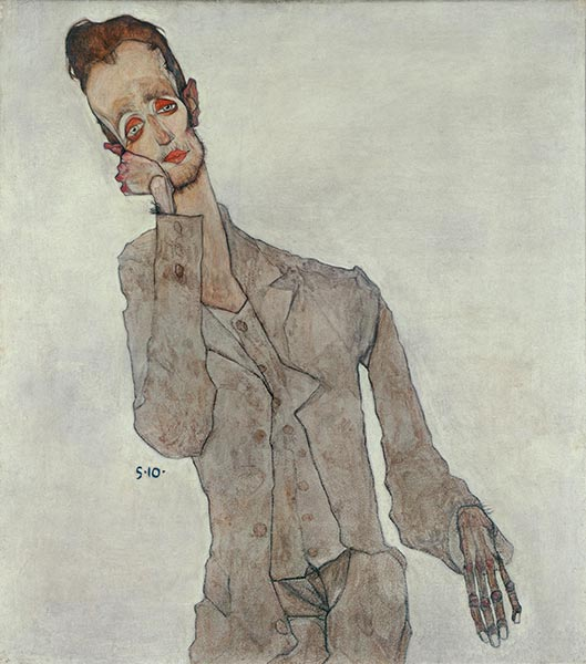 Portrait of Painter Karl Zakovsek, 1910 | Schiele | Painting Reproduction