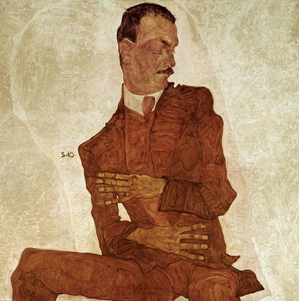 Portrait Arthur Roessler, 1910 | Schiele | Painting Reproduction