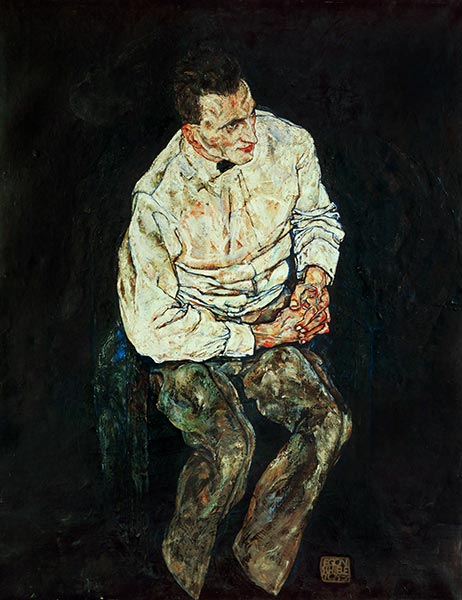Portrait of Karl Gruenwald, 1917 | Schiele | Painting Reproduction