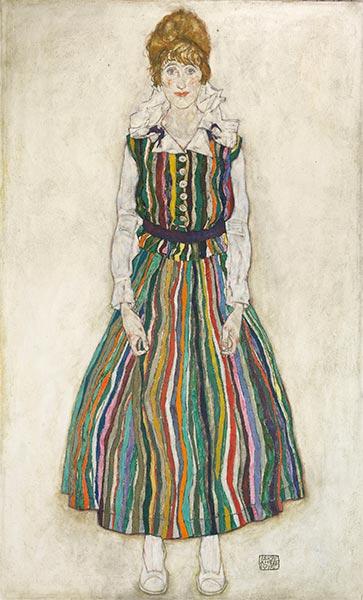 Portrait of Edith Schiele, 1915 | Schiele | Painting Reproduction