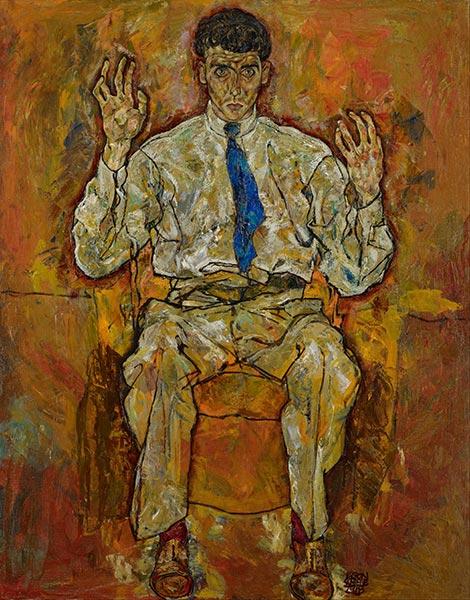 Portrait of Paris von Gütersloh, 1918 | Schiele | Painting Reproduction